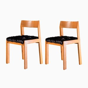 Mid-Century Modern Dining Chairs from Mario Sabot, Set of 2
