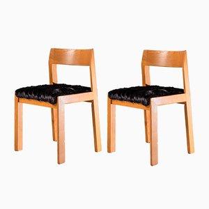 Mid-Century Modern Esszimmerstühle von Willy Rizzo für Mario Sabot, 2er Set