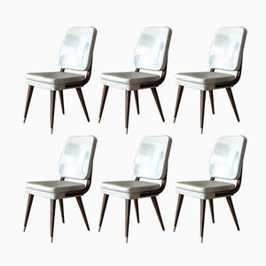 Mid-Century Modern French Dining Chairs, 1950s, Set of 6
