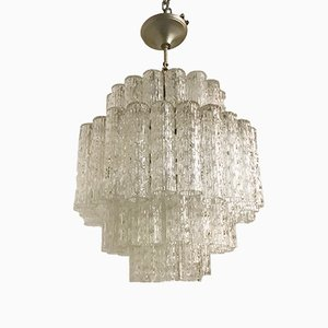 Mid-Century Murano Glass Tube Chandelier by Paolo Venini