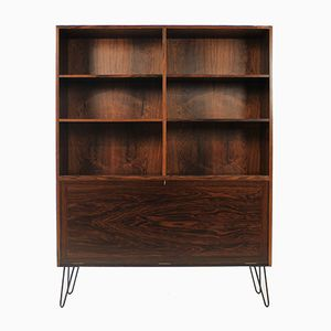 Palisander and Glass Bookcase from Omann Jun, 1960s
