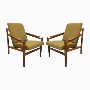 Tschechoslowakische Vintage Armlehnstühle, 1960er, 2er Set