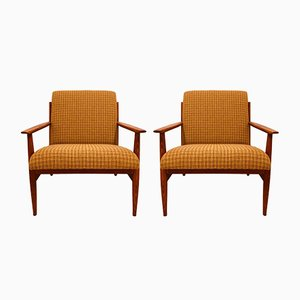 Dänische Mid-Century Armlehnstühle, 1960er, 2er Set