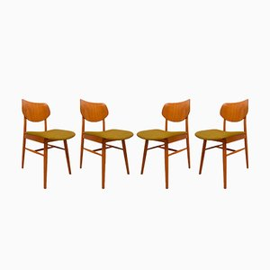 Vintage Dining Chairs from TON, 1960, Set of 4
