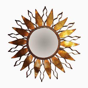 Vintage Spiegel mit Rahmen aus Blattgold