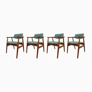 Teak GM11 Armchairs by Svend Åge Eriksen for Glostrup, 1960s, Set of 4