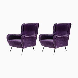 Italienische Senior Sessel von Marco Zanuso für Arflex, 1950er, 2er Set