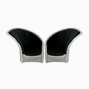Chaises Surréalistes en Osier Vintage, Set de 2