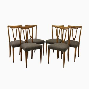 Chaises, 1950s, Italie, Set de 6
