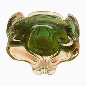 Grüne tschechische Chibska Vase von Josef Hospodka, 1970er