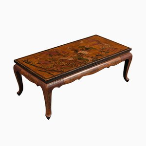 Antique French Chinoiserie Style Painted Low Coffee Table