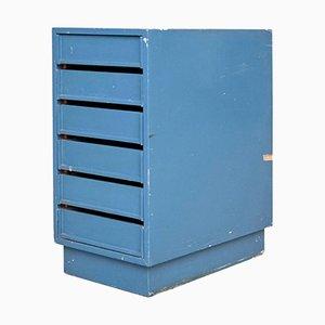 Cajonera vintage azul, años 60
