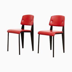 Standard Stühle von Jean Prouvé, 1950er, 2er Set
