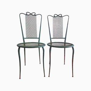 Vintage Gartenstühle aus lackiertem Stahl, 1950er, 2er Set