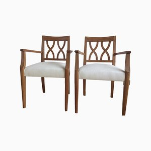 Oak Armchairs by Gerard Guermonprez, 1950s, Set of 2