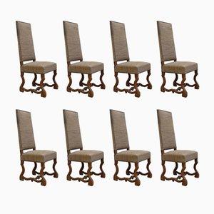 Os De Mouton Esszimmerstühle aus Eiche, 1940er, 8er Set