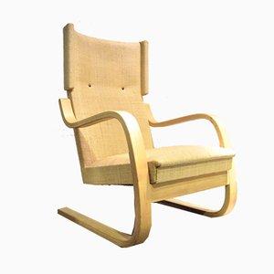 Modell 401 Sessel mit hoher Rückenlehne von Alvar Aalto für Artek, 1940er