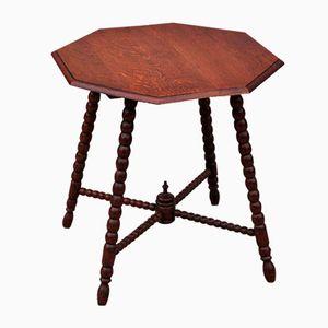 Table d'Appoint Vintage en Chêne avec Octagonal Top, 1950s