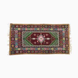 Long Vintage Moroccan Rabat Rug