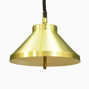 Lámpara colgante vintage dorada de Belid, años 60