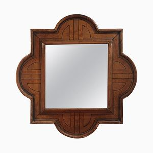 Spanish Leather Mirror, 1940s