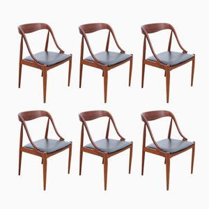 Mid-Century Scandinavian Teak Chairs by Johannes Andersen for Uldum, Set of 6