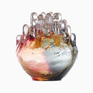 Portacandela vintage in cristallo di Goran Warff per Kosta Boda