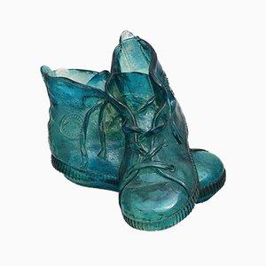 Lámpara de mesa en forma de zapatos de resina de L'Isola Che Non C'è, años 60