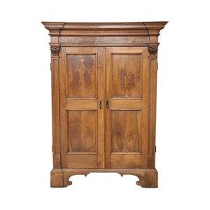 Armadio antico grande in legno di quercia massiccio, fine XVII secolo