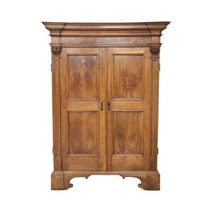 Large Antique Wardrobe in Solid Walnut, 1680s