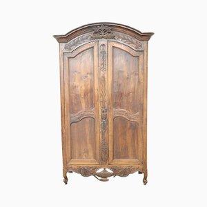 Armadio antico in legno di quercia massiccio, Francia, fine XVIII secolo