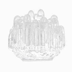 Bougeoirs Polar Vintage en Cristal par Goran Warff pour Kosta Boda, Set de 2