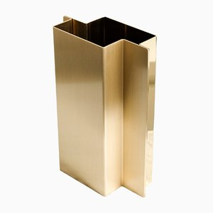 Polished & Brushed Brass Shift Vase from Etre Moderne