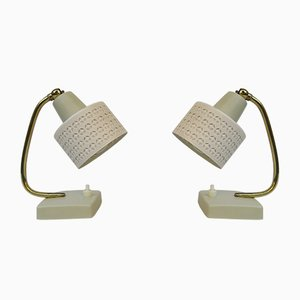 Brass Table Lamps, 1950s, Set of 2