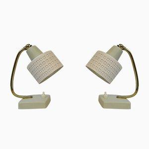 Lámparas de mesa de latón, años 50. Juego de 2