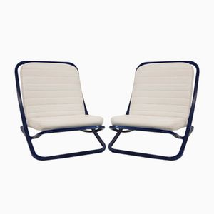 Vintage Italian Fireside Chairs from Porsche Design, 1970s, Set of 2