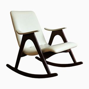 Vintage Rocking Chair by Louis van Teeffelen for WéBé