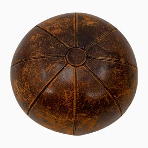Large Leather German Medicine Ball from Berg, 1928