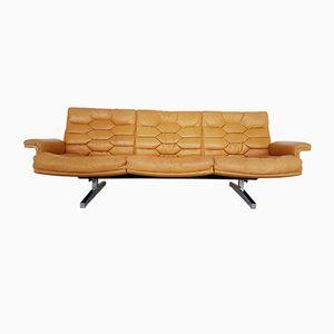 Cognacfarbenes DS35 Sofa aus Anilinleder von de Sede, 1970er