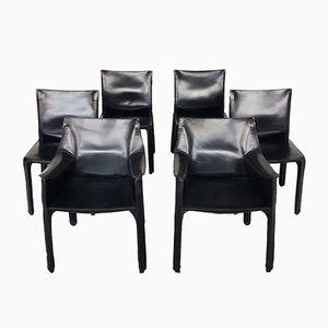 CAB 412/413 Dining Chairs by Mario Bellini for Cassina, 1980s, Set of 6