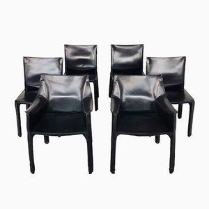 CAB 412/413 Esszimmerstühle von Mario Bellini für Cassina, 1980er, 6er Set