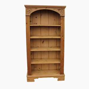 Vintage Open Pine Bookshelf, 1960s