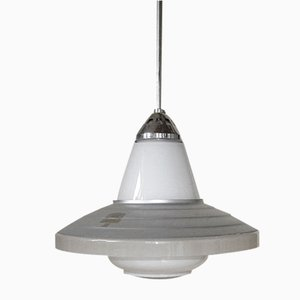 Lámpara colgante vintage de Zeiss Ikon, años 30