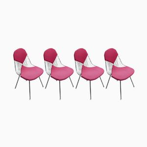 Vintage DKX Bikini Wire Chairs by Charles & Ray Eames for Herman Miller, Set of 4