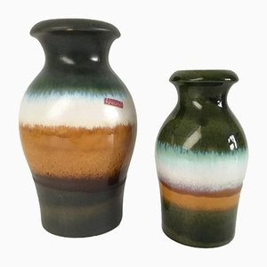 West German Vases from Scheurich, 1970s, Set of 2