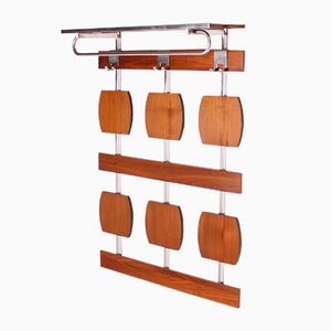 Space Age Teak & Chrome Coatrack, 1960s