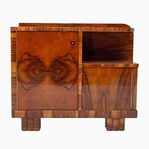 Art Deco Walnut Bar Cabinet, 1930s
