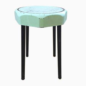 Green Bakelite Plastunic Stool, 1960s