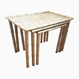 Bamboo Nesting Tables, 1940s
