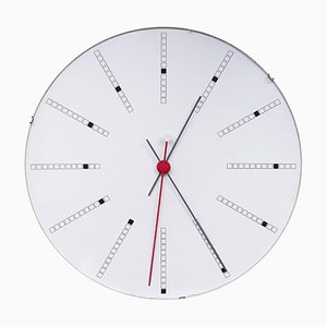 Large Wall Clock by Arne Jacobsen for Gefa, 1970s